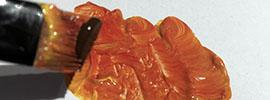 Steg två för att blanda hudfärg - dämpa med brun ockra | www.dinatelje.se