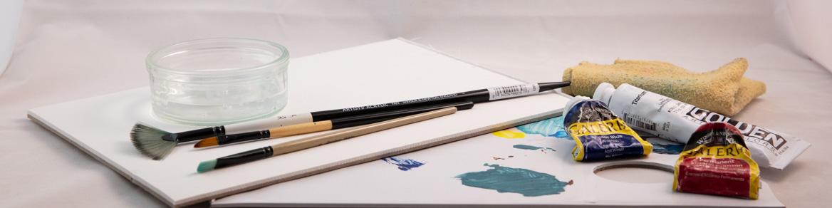 Börja måla med akrylfärg. Tydliga instruktioner steg för steg. | www.dinatelje.se