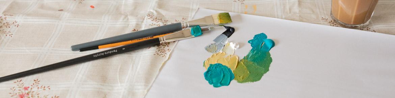rengöra penslar akrylfärg