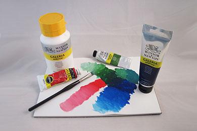 Studiokvalitet akrylfärger | www.dinateljer.se